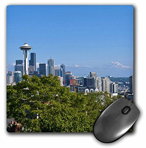 3dRose LLC 8 x 8 x 0.25 Inches Mouse Pad, Seattle Washington Skyline From Queen Annes Hill Bill Bachmann (mp_95103_1)
