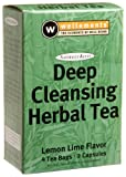 Wellements Deep Cleansing Herbal Tea, Lemon Lime Flavor, 4-Tea Bags & 2-Capsules  Boxes (Pack of 2)
