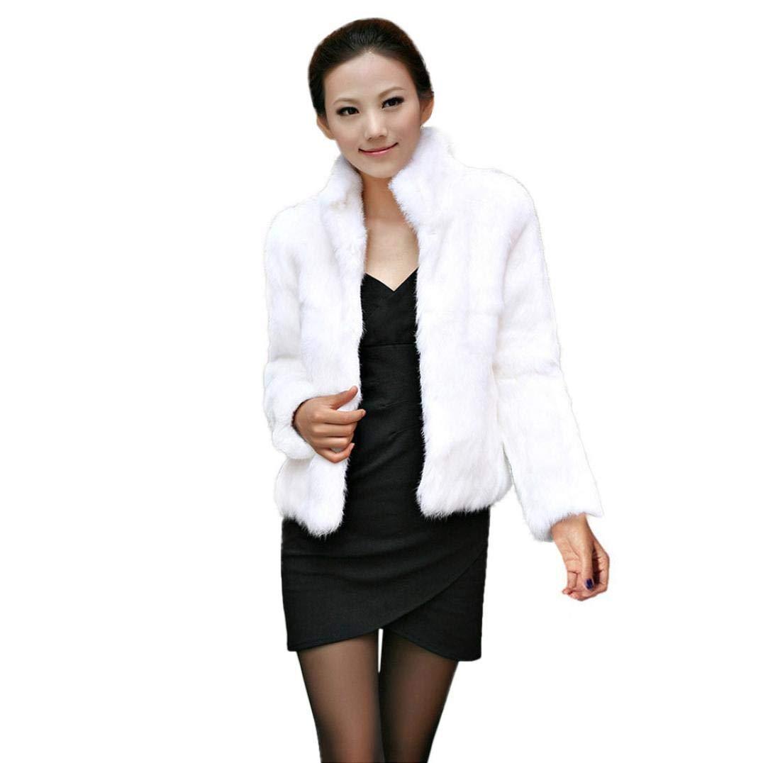 Pandaie Jacket,Winter Lady Womens Warm Short Faux Fur Fox Coat Jacket Parka Outerwear