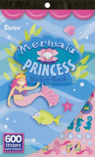 Darice 600 Mermaid Princess Sticker Book, One Size, Multicolor
