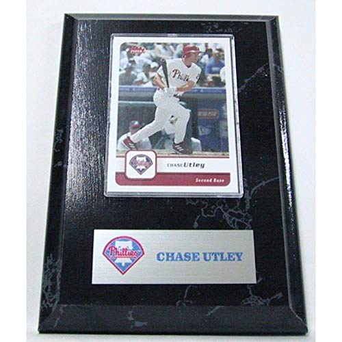 - Sports Images PLQBBPHICU MLB Card Plaques- Philadelphia Phillies-Chase Utley