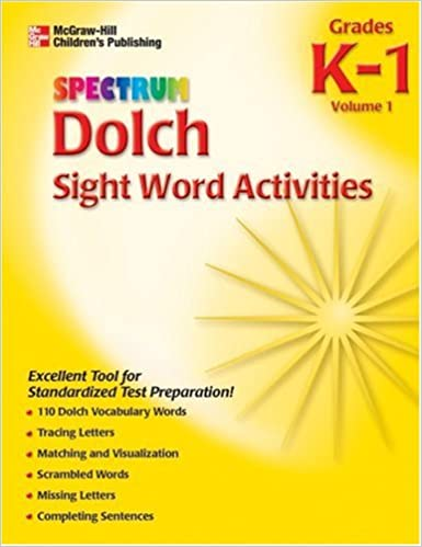 Amazon.com: Spectrum Dolch Sight Word Activities, Volume 1 ...