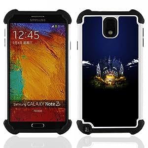 BullDog Case - FOR/Samsung Galaxy Note3 N9000 N9008V N9009 / - / Castle Manor /- H??brido Heavy Duty caja del tel??fono protector din??mico - silicona suave