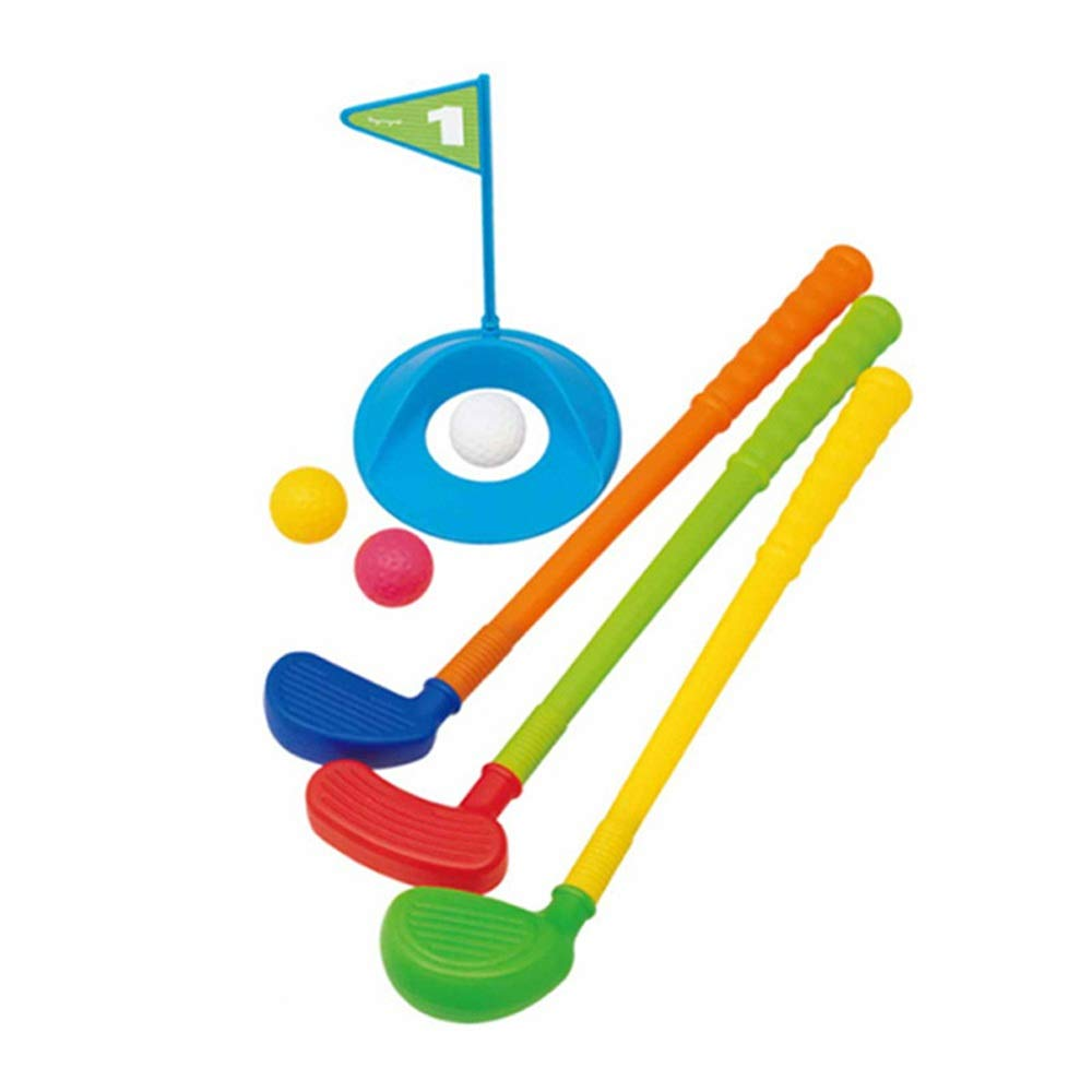 Golf Toys Set Educational Golf Toys Sets Plastic Golf Clubs for Toddlers Kids Sturdy & Multi-Colored Outdoor Indoor Exercise Toy (Color, Size : 101850cm) by JIANGXIUQIN-Toy