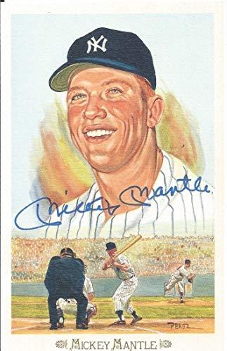 Mickey Mantle JSA Autographed Signed Memorabilia Perez Steele Celebration Postcard #28 Autographed Signed Memorabilia