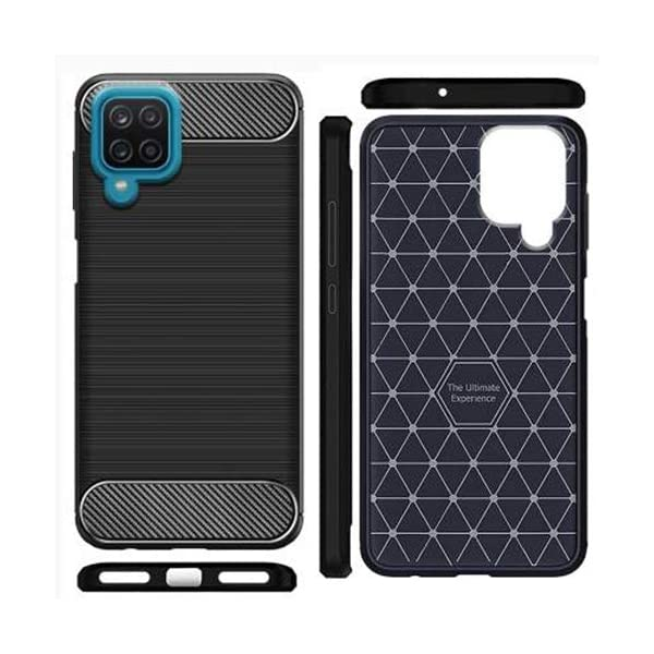 Amazon Brand - Solimo Soft & Flexible Hybrid Back Phone Case for Samsung Galaxy M12 / Samsung Galaxy F12 (Black) 2021 July Snug fit for Samsung Galaxy M12 with perfect cutouts for volume buttons, audio and charging ports Durable, soft and flexible back case Protects phone from scratches, falls, fingerprints and sweat
