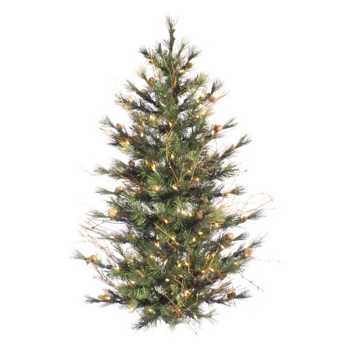 Fir Tree Christmas Camdon (Vickerman Unlit Camdon Fir Artificial Christmas Wall Tree, 3' x 26
