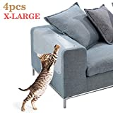 The Fellie Large Cat Furniture Protector Anti Cat Scratch Protector Pad 18inch X 12inch, 4PCS