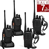 Greaval Walkie Talkies 4 Pack Long Range 2 Way Radio Handheld 16-CH Two Way Radios (Pack of 4)