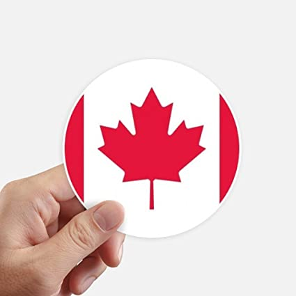 Canada national flag north america country round stickers 10cm wall suitcase laptop motobike decal 8pcs