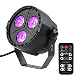 Tomshine RGBP (RGB/UV) 4-in-1 Wash Effect Stage Par Light 15W 8 Channels DMX512 Master-slave Sound-activated with Remote Controller for Indoor Disco KTV Club Party Pub Bar Banquet Wedding