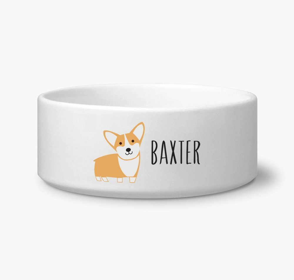 Corgi Custom Name Dog Bowl 6