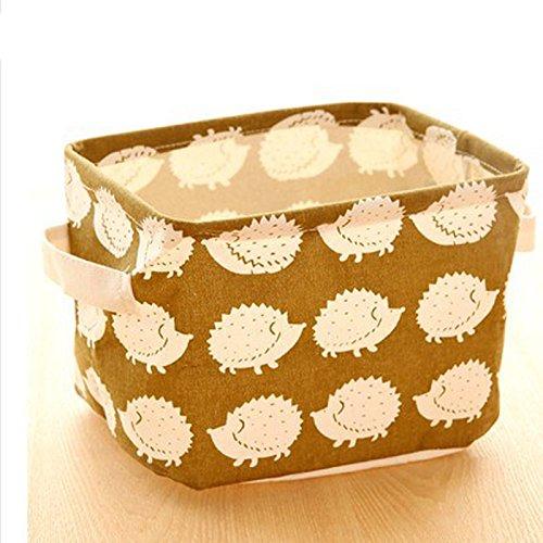 Money coming shop Cute Printing Cotton Linen Desktop Storage Organizer Sundries Storage Box Cabinet Underwear Storage Basket Fast Shipping(Hedgehog)