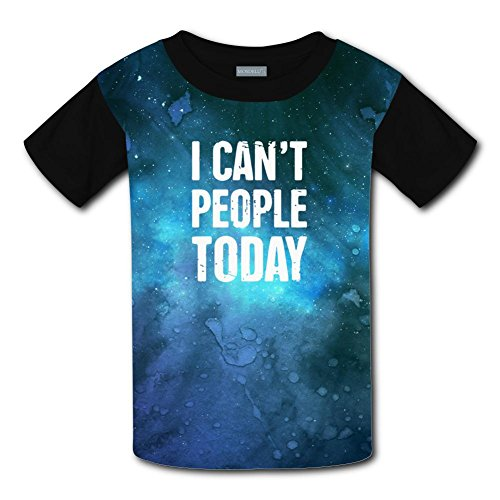 Qualra Kids Fashion I Can't People Today 3D Print T-Shirts Short Sleeve Tees
