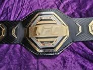 UFC Legacy Championship Replica Belt with Premium Quality Leather Strap Also with Wall Hanger Thick Plates Ste
