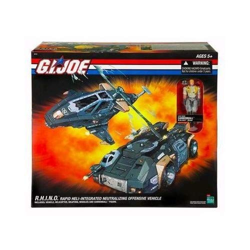 G I  Joe  Dtc  Direct To Consumer  R H I N O   Rapid Heli Integrated Neutralizing Offensive Vehicle  With Cannonball Action Figure