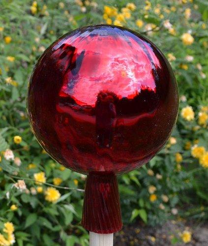 Gartenkugel (R24) Rosenkugel Gartenkugeln Glas 25 cm groß (auch mit Rosenkugelstab -Gartenstecker erhältlich)