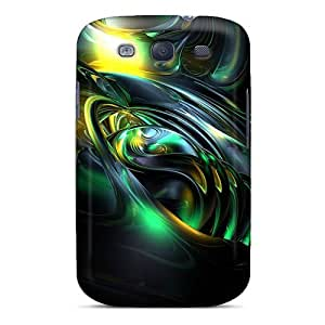 Galaxy S3 Hard Back With Bumper Silicone Gel Tpu Case Cover Wave