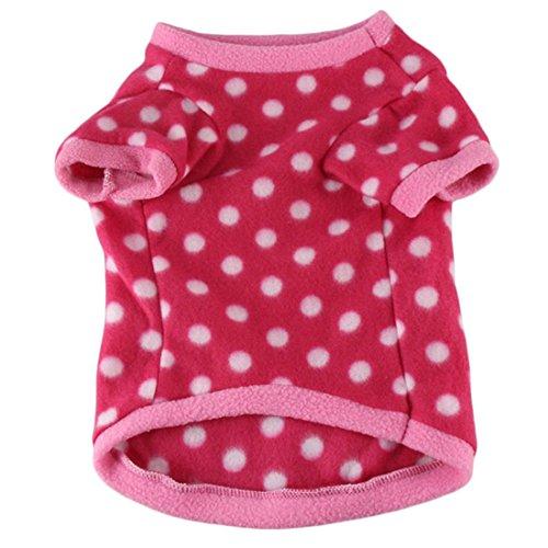 Coper New Fashion Pet Puppy Little Dog Cat Hot Leopard Fleeces Sweater (Red, ()