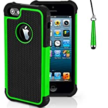 Case for Apple iPhone SE Shockproof Phone Cover with Screen Protector / iCHOOSE / Green