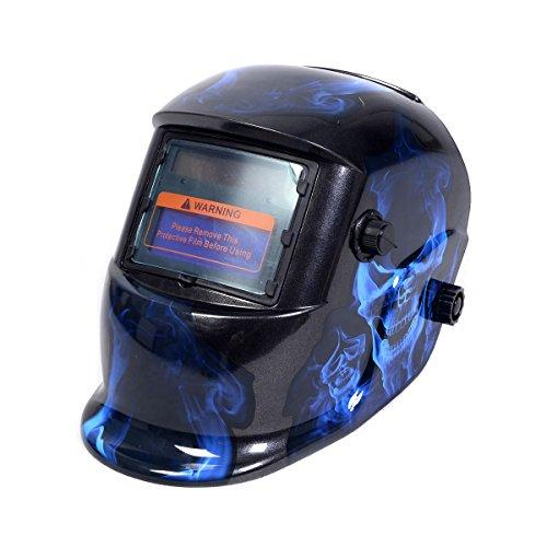 Automatik Schweißmaske Solar Schweißhelm Schweißschirm Schweißschild 7 Farbewahl (Modell 2)