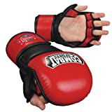 Combat Sports MMA Safety Sparring Gloves (Red-Black, X-Large)