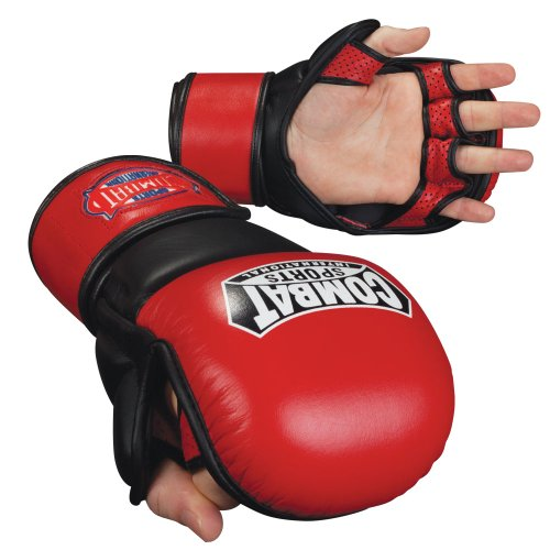 Combat Sports Mma Bag Gloves (Combat Sports MMA Safety Sparring Gloves (Red-Black, X-Large))