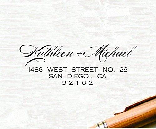 - Return Address Stamp, Self Inking Address Stamp, Wedding Stamp, Designer Stamp, Custom Stamp, Personal Self Inking Wedding Stationery Stamper - Trodat 4915