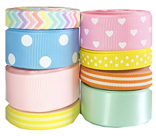 Satin Pastel Braid (HipGirl Holiday, Spring, Easter Ribbon - Pastel. Great for your Easter, Spring Projects (40yd(8x5yd) 3/8