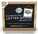Ultimate Felt Letter Board Kit. 10x10 inch (Black/White)