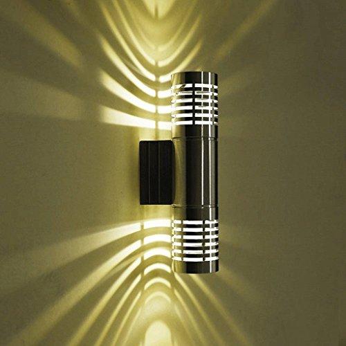 M-zmds Lámpara de pared de LED moderna Luz de pared de 3W arriba y abajo Iluminación de pared luces de punto para el espejo...
