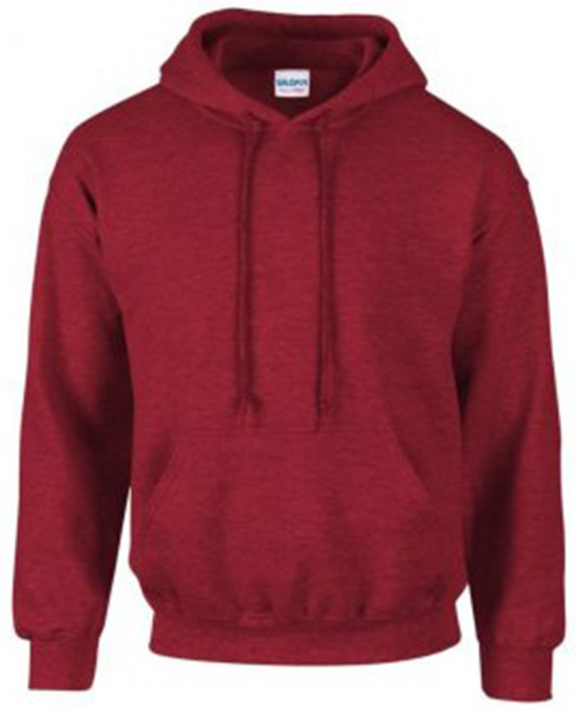 Gildan Men's Heavy Blend Hooded Sweatshirt Antique Cherry Red M by Gildan