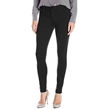 3b51d8a790 Calvin Klein Ladies Sateen Mid-Rise Skinny Pant, Black, 10 at Amazon Women's  Clothing store: