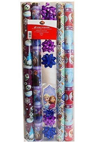New Disney Frozen 4 Pck Christmas Wrapping Paper & Gift Bag & Gift Tags (Lights Christmas Massachusetts)