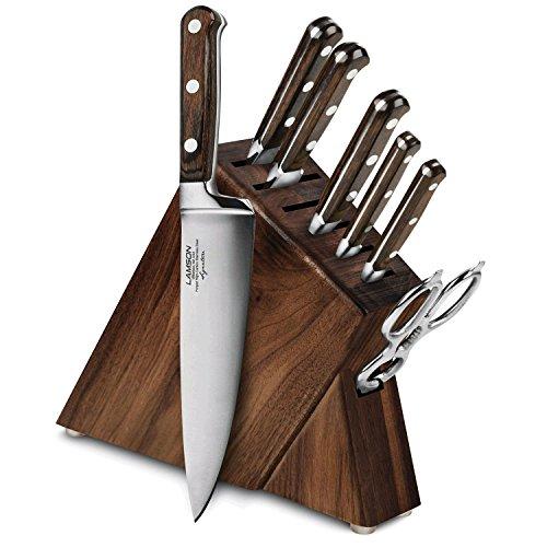 Block Walnut (Lamson Signature Forged 8-piece Walnut Slim Knife Block Set)