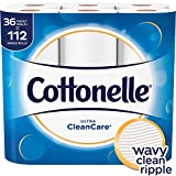 #9: Cottonelle Ultra CleanCare Toilet Paper, Strong Bath Tissue, 36 Family Rolls+
