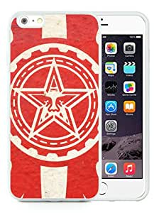 Red Obey Logo White Custom Phone Shell iPhone 6 Plus 5.5 Silicone TPU Case Cool Design
