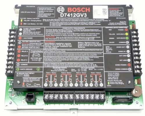 BOSCH - RADIONICS D7412GV3 Commercial Protected Premises Control Panel by Bosch