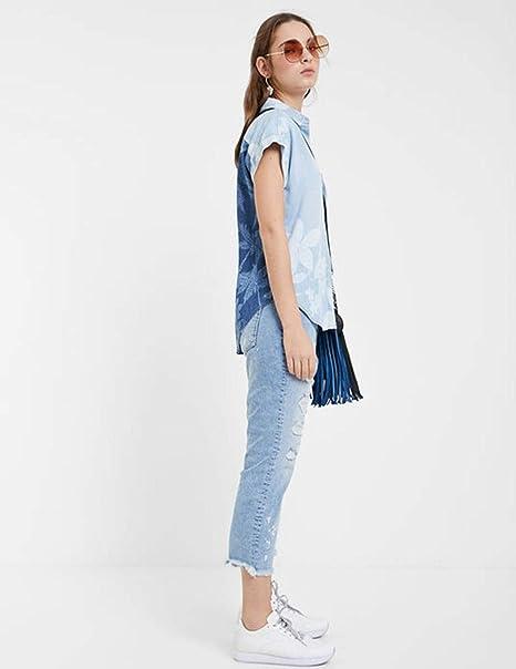 Desigual Camisa BLUEWAI Azul para Mujer.