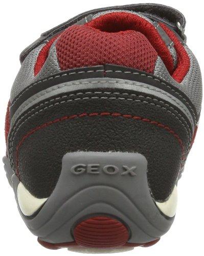 Geox JR ARNO A - Caña baja de lona niño gris - Grau (GREY/RED C0051)