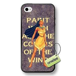 Disney Cartoon Movie Pocahontas Soft Rubber(TPU) Phone Case & Cover for iPhone 4/4s - Black wangjiang maoyi