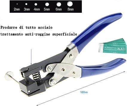 Montre Puncher Min Diamètre du trou 1.5 mm Ceinture Perforation main Pince 6 Taille