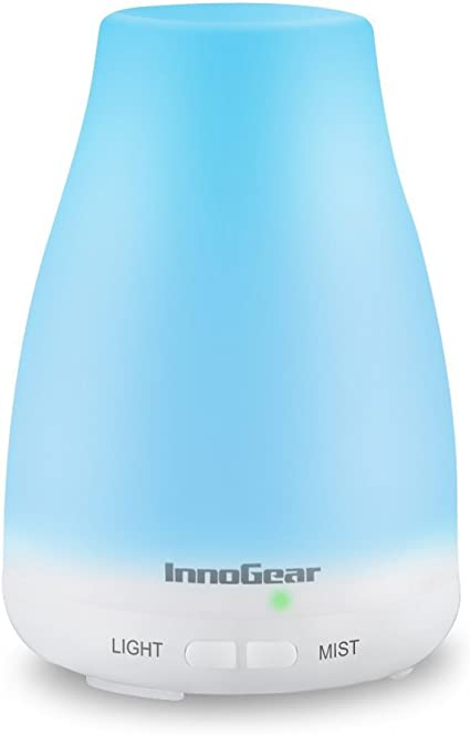 InnoGear Aromatherapy Essential Oil Diffuser Portable Ultrasonic Cool Mist Aroma Humidifier with Color LED Lights Changing and Waterless Auto Shut Off