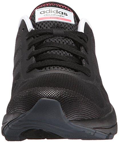Adidas Neo Mujeres Cloudfoam Flow W Casual Sneaker Negro / Negro / Acampanado