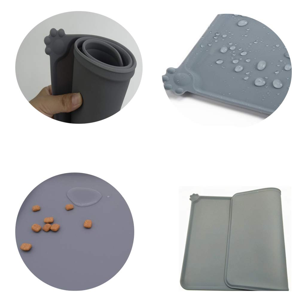 liansheng Folding Dog Bowl Pet Mat Silicone Mat Non-Slip Out of Pocket Waterproof Pet Food Mats Tray by liansheng (Image #5)