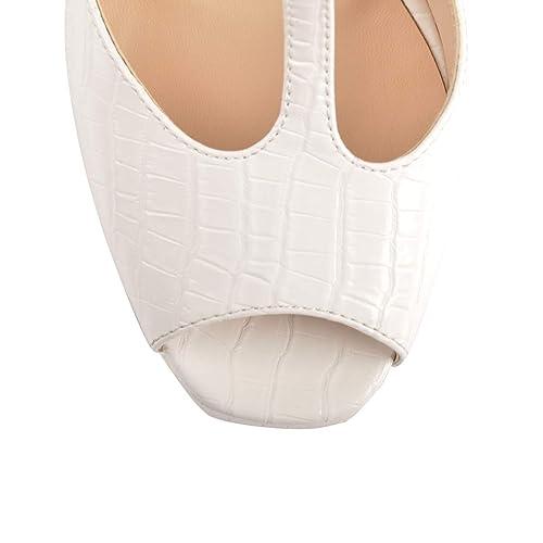Women's Ankle Strap High Heel Sandals Squre Toe Party Dress Shoes