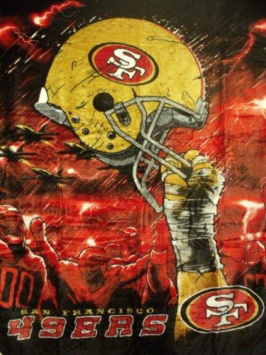 San Francisco 49ers Soft Blanket (NFL San Francisco 49ers 60-Inch-by-80-Inch Plush Rachel Blanket, Sky Helmet Design)