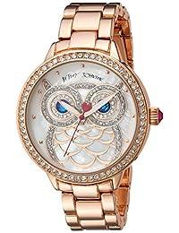 Betsey Johnson Women's BJ00616-01 Glitter Owl Motif Dial Watch