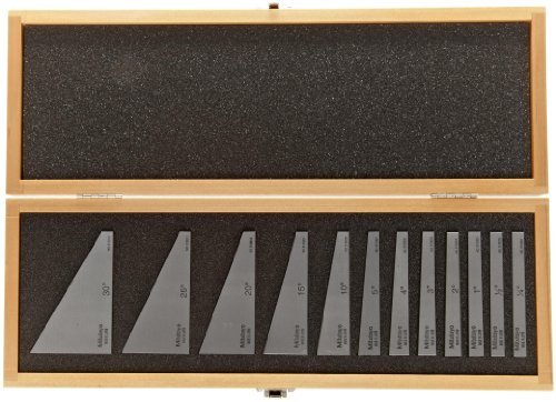 HFS 12 pcs precision angle block set 1/4,1/2,1 to 5 & 5 to 30 degree by HFS