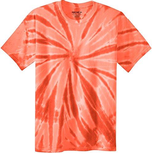 Joe's USA Koloa Surf (tm) Youth Colorful Tie-Dye T-Shirt,S-Orange ()